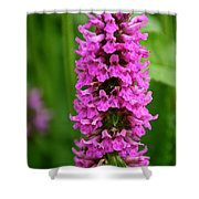 Flower Tower Tall Shower Curtain