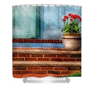 Flower - Tulip - A Pot Of Tulips Shower Curtain