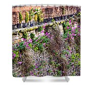 Flower Wall Along The Arno River- Florence Italy Shower Curtain