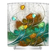 Flower Wind Shower Curtain