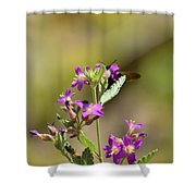 Flower With Bee Shower Curtain