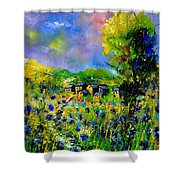 Flowered Village Shower Curtain