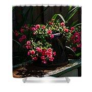 Flowering Coffee Pot Shower Curtain
