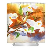Flowering Dogwood IIi Shower Curtain by Kip DeVore
