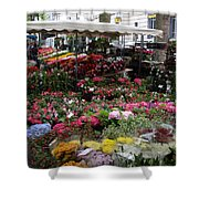 Flowermarket - Tours Shower Curtain