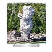 Flowerpot Island - Detail Shower Curtain