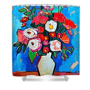 Flowers And Colors Shower Curtain by Ana Maria Edulescu