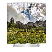 Flowers And Mountains And Sky...oh My Shower Curtain