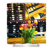 Flowers And Wine Shower Curtain