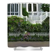 Flowers At Bay Head Shower Curtain