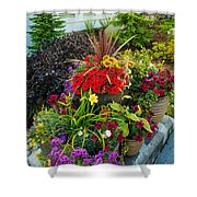 Flowers At Entrance Shower Curtain