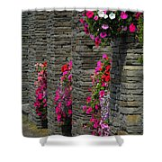 Flowers At Liscannor Rock Shop Shower Curtain
