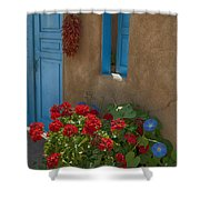 Flowers At Ranchos De Taos Shower Curtain