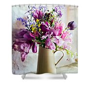 Flowers At The Post Office Shower Curtain