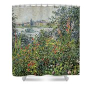 Flowers At Vetheuil Shower Curtain