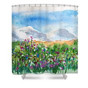 Flowers At Wolf Creek Shower Curtain