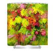 Flowers By The Brush Shower Curtain