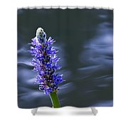 Flowers By The Water Shower Curtain