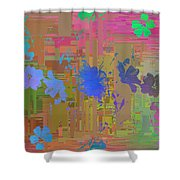 Flowers Cubed 1 Shower Curtain