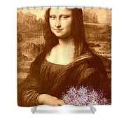 Flowers For Mona Lisa Shower Curtain