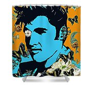 Flowers For The King Of Rock And Roll Shower Curtain