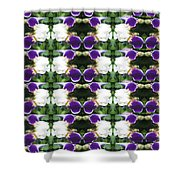 Flowers From Cherryhill Nj America White  Purple Combination Graphically Enhanced Innovative Pattern Shower Curtain