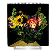 Flowers From The Heart Shower Curtain