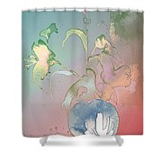 Flowers Ghosts Shower Curtain