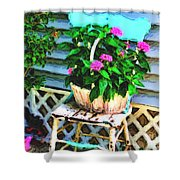 Flowers In A Basket Shower Curtain