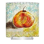 Flowers In A Mosaic Apple Shower Curtain