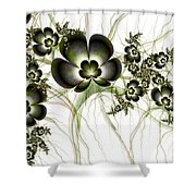 Flowers In The Antique Look Shower Curtain