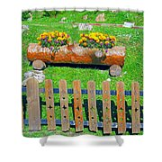 Flowers In Wooden Pot Shower Curtain