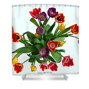 Flowers  Just  For  You Shower Curtain