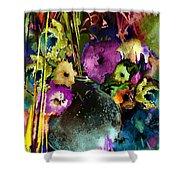Flowers Night Party Shower Curtain
