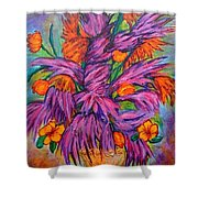 Flowers Of Passion Shower Curtain