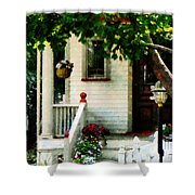 Flowers On Steps Shower Curtain