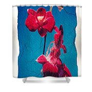 Flowers On Watercolor Paper Shower Curtain