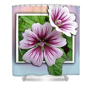 Flowers Out Of Bounds Shower Curtain