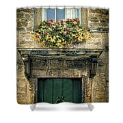 Flowers Over Doorway Shower Curtain
