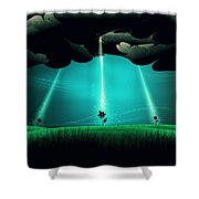 Flowers Under The Clouds Shower Curtain by Gianfranco Weiss