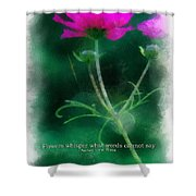 Flowers Whisper 01 Shower Curtain