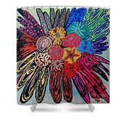 Flowers Burst By Jasna Gopic Shower Curtain