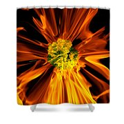 Flowery Flames Shower Curtain