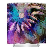 Flowery Illusion Shower Curtain