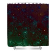 Flowery Night Sky Shower Curtain