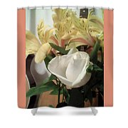 Flowery Notes Shower Curtain