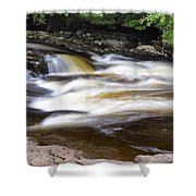 Flowing And Cascading At The Falls Of Dochart - Killin Scotland Shower Curtain
