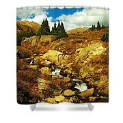 Flowing Down To Aspen Shower Curtain