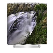 Flowing Glow Shower Curtain