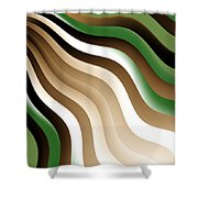 Flowing Graphic Shower Curtain